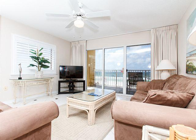 Awesome views from the beach front living room - GD 301:ORNATE 3BR condo PERFECT for a SERENIC ESCAPE... BOOK NOW! - Fort Walton Beach - rentals