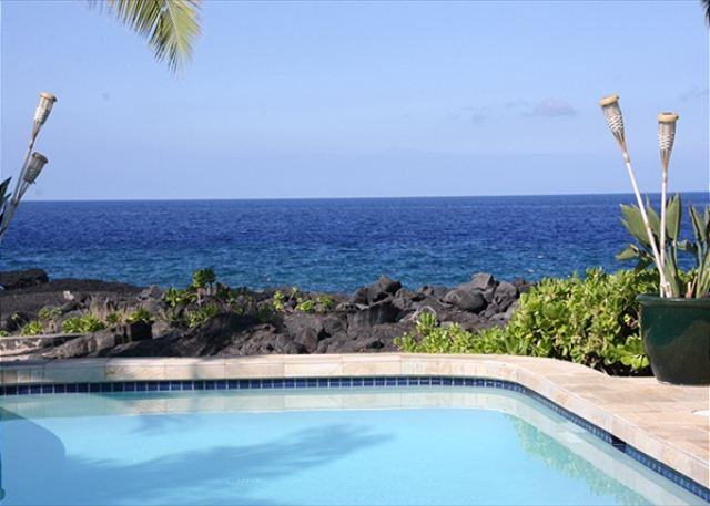 Ocean Front Pool - Ocean Front, Spacious 4 bedroom 3.5 bath home in Kona Bay Estates, VIlla Kai-PHKBEVK - Kailua-Kona - rentals