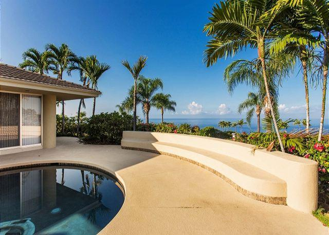 Private Pool with an Ocean View - Spectacular Ocean Views, 3 bed, 3.5 baths in gated Keauhou Estates #2-PHKEST2 - Kailua-Kona - rentals