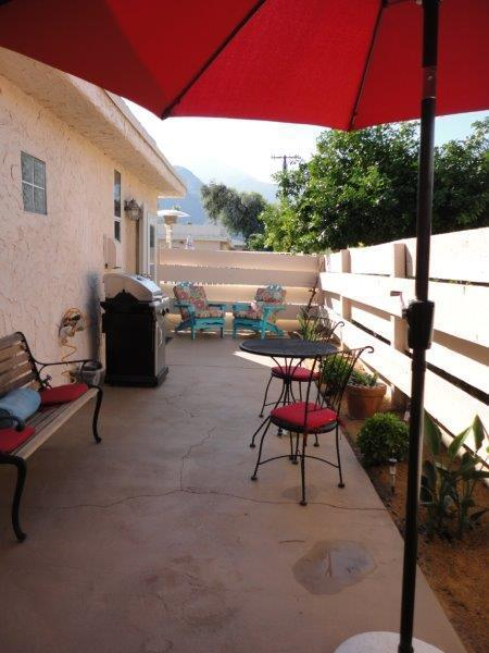 Back Patio features Mountain Views...french doors from Master & Great room - PS Paradise Modern & Fun! - Palm Springs - rentals