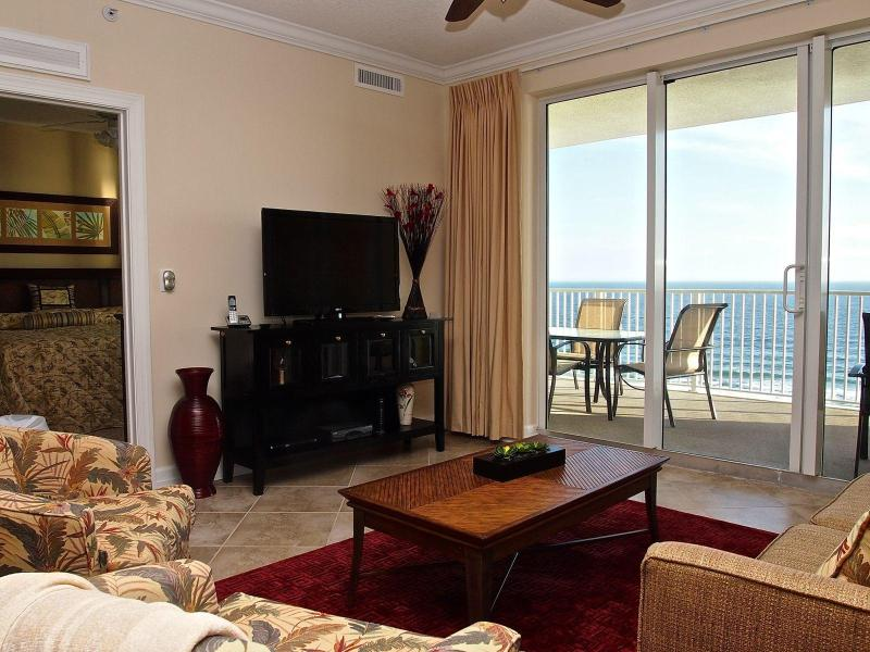 Stunning living area with Gulf view! - Breathtaking GULF VIEW, 2/2 Condo, near Pier Park - Booking Spring Vacations! - Panama City Beach - rentals