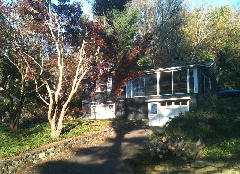 Home as seen from Candlewood Springs - Charming Candlewood Lake Retreat - New Milford - rentals