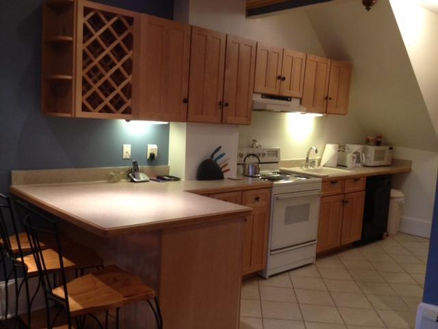 Full kitchen - Charming Studio, full kitchen, fireplace & garden - Boston - rentals