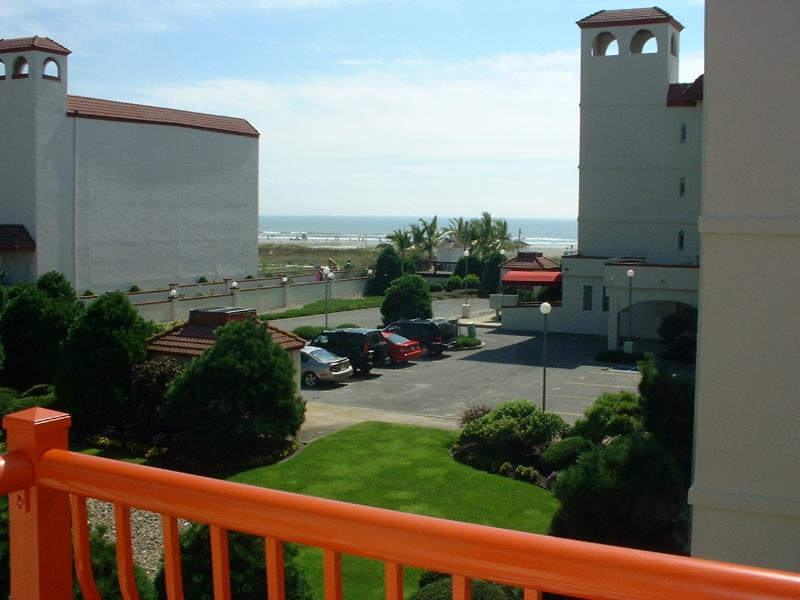 View of beach from deck in living room - Diamond Beach - Ocean View - Beach Tags Included! - Wildwood Crest - rentals