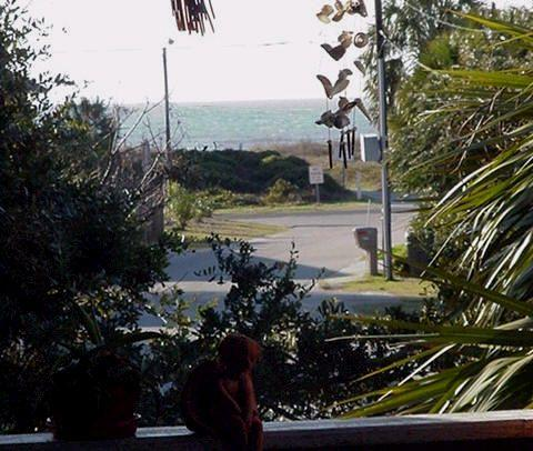 Photo is shown for proximity of beach - Taken from second level porch - Not ground level Apt View - GARDEN APT  Next Avail - May 15, 2015 (90-day Min) - Isle of Palms - rentals