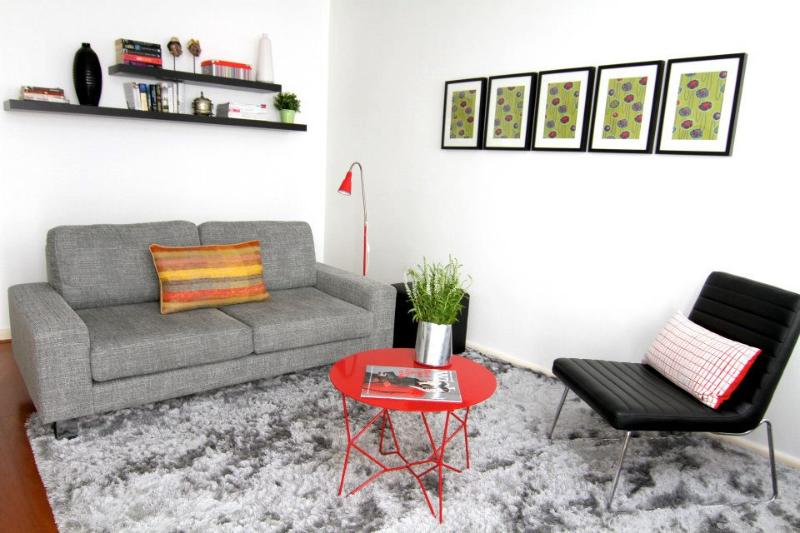 comfy sofa, spacious living - Central Village Beachside 1 BR APT FREE WIFI - Elwood - rentals