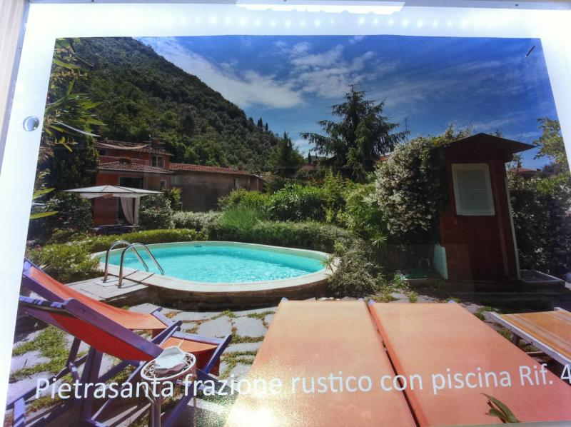 The house from the garden - Quiet Tuscan 4 Bedroom Vacation House on the Hills - Pietrasanta - rentals