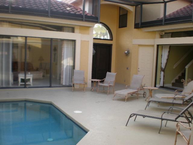Front Entry and Cabana - 5 minute walk to beach 4 BR paradise home - Marco Island - rentals