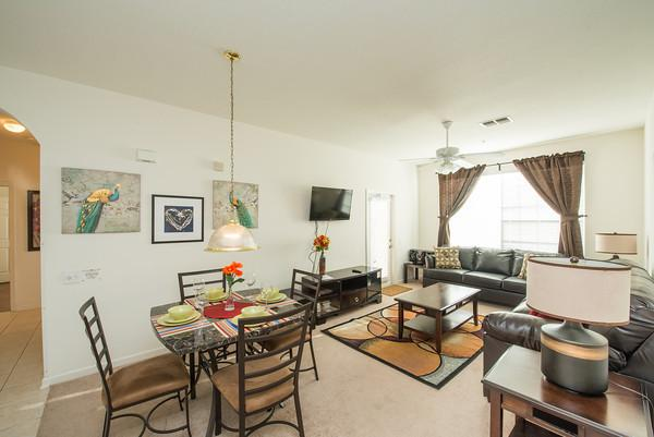 Living Room & Dining Table - Luxury condo at Windsor Palms Resort near Disney! - Kissimmee - rentals