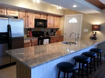 Large granite kitchen - Mountain Rentals PA LLC - Blakeslee - rentals