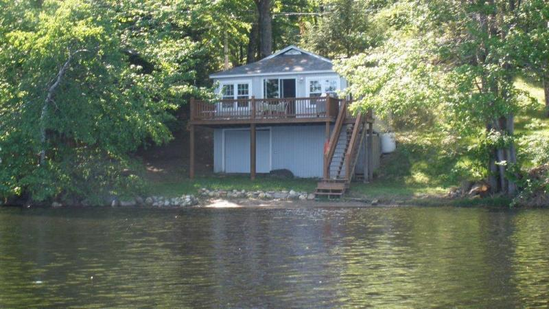 View from water - Lakefront Cottage - Rindge - rentals