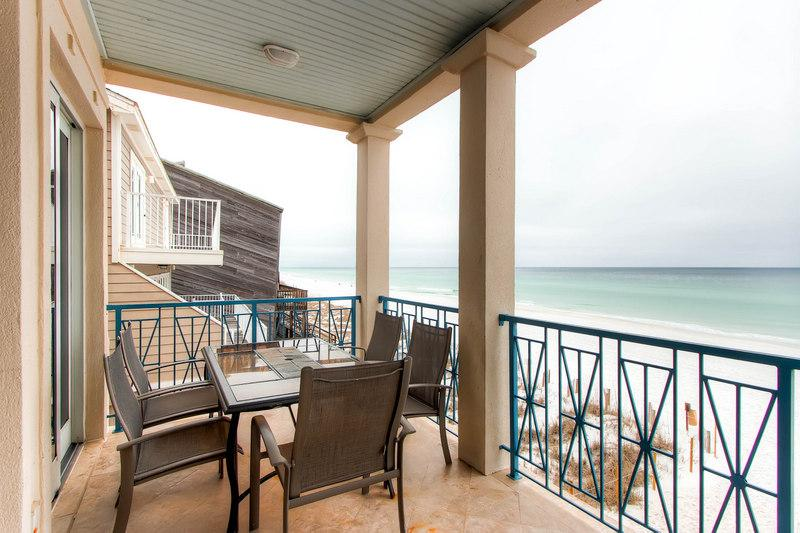 What a stunning view from the balcony! - Frangista Pearl: 5 Bdrm, Beach Front, Private Pool - Miramar Beach - rentals