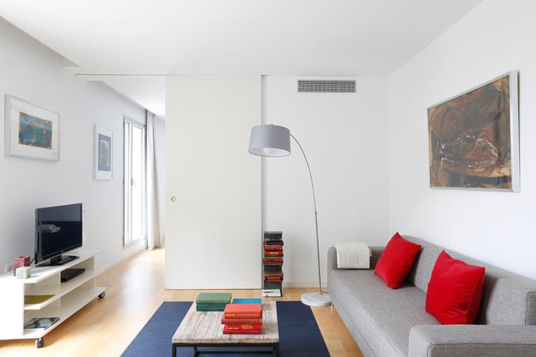 Living room - Mistral City Beach Apartment with Pool (1BR) (3.4) - 10% OFF END MAY STAY PROMOTION - Barcelona - rentals