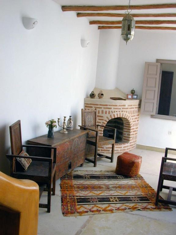 Open air salon with fireplace - 1st Floor - Dar Beldi - Morocco - rentals