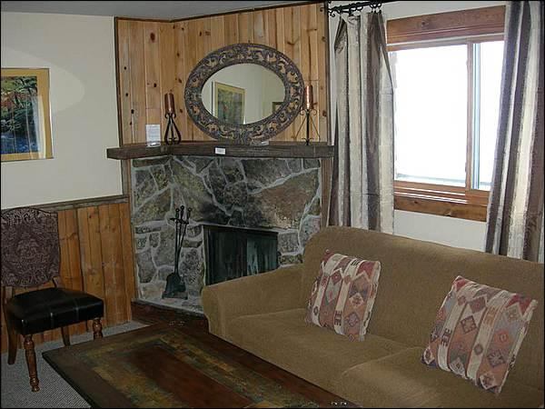Living Room Features a Wood-Burning Fireplace and Sleeper Sofa - Great Family Accommodations - Lots of On-Site Amenities (1341) - Crested Butte - rentals