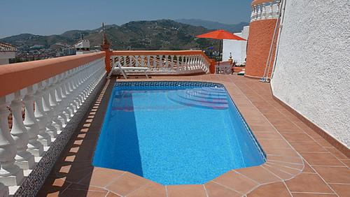 Pool - Villa Sol with fantastic sea view, priv. Pool WiFi - Almunecar - rentals