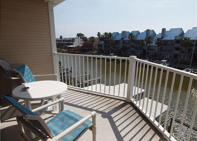 Balcony - Waterfront Paradise is Waterfront condo w/a boat slip & Great View! - Corpus Christi - rentals