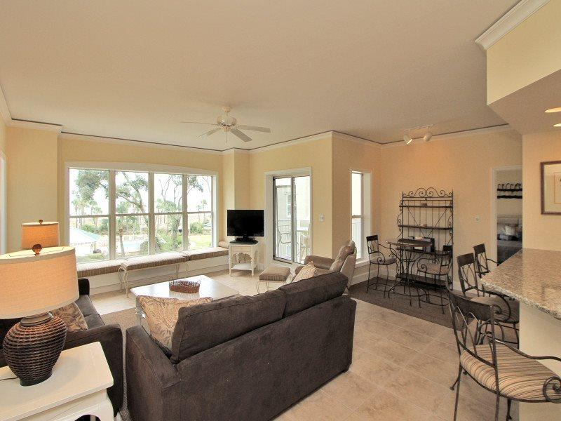 Living Room with Ocean Views at 6201 Hampton Place - 6201 Hampton Place - Hilton Head - rentals