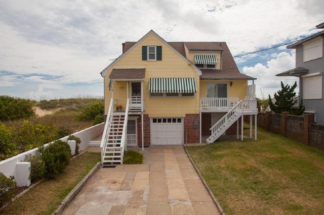 Front Exterior - 6308 Oceanfront - Virginia Beach - rentals
