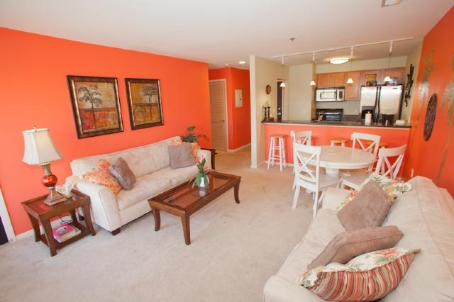 Living Area - Playa Rana 206 - Virginia Beach - rentals