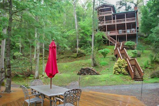 BEARS NEST- 3BR/3BA- CABIN SLEEPS 10, LOCATED ON THE TOCCOA RIVER, GAS & CHARCOAL GRILL, HOT TUB, FIRE PIT, DECK OVER THE RIVER, SATELLITE RADIO, WIFI, NETFLIX ONLY, WII CONSOLE, PET FRIENDLY! STARTING AT $220 A NIGHT - Image 1 - Blue Ridge - rentals