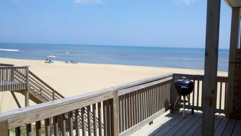 View from the deck - Awesome 3BR 1BA Oceanfront Cottage in S. Nags Head - Nags Head - rentals