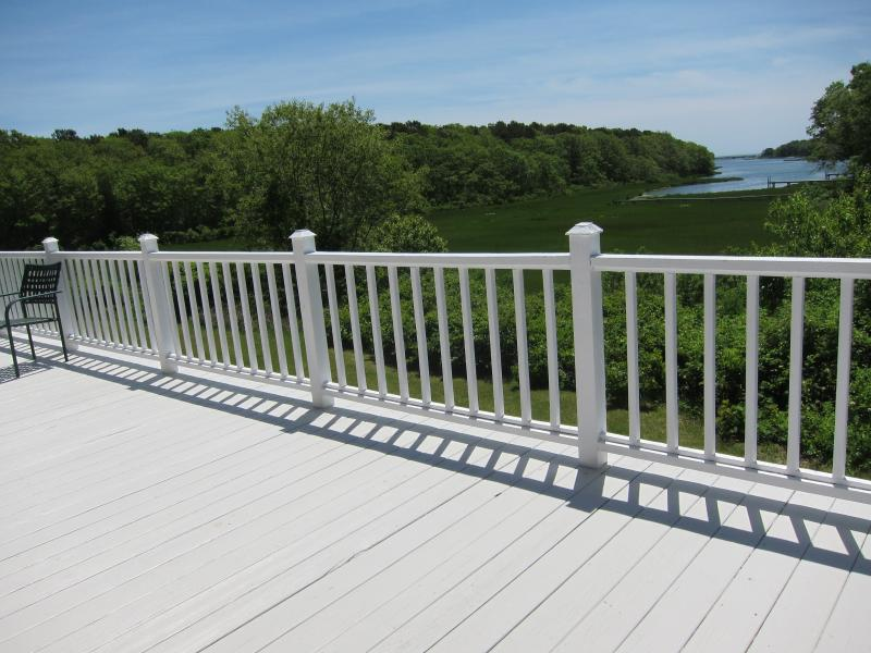 Back Deck - Newly renovated 3bed/2bath Colonial w/ Water View - Falmouth - rentals