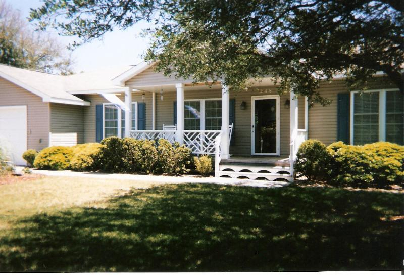 Front Yard of Shore Delight - A Shore Delight, OBX, NC -Rent direct from owner, - Southern Shores - rentals
