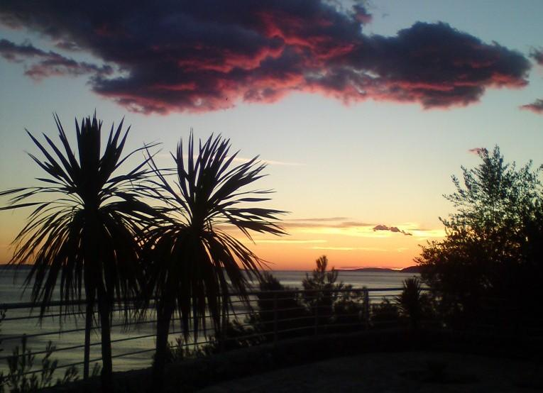 sunset from the Ark apartments - Ark 4* panoramic sea view suite 1/4, Squirrel - Stobrec - rentals