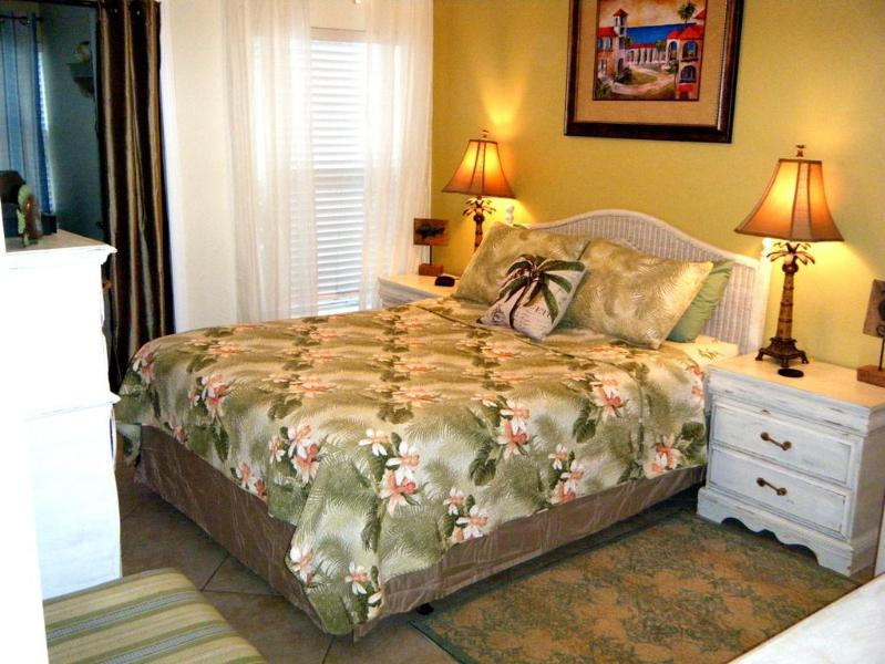 QUEEN BED WITH BRAND NEW PILLOWTOP MATTRESS - 2 RUGS - FLAT SCREEN TV AND DVD PLAYER - - GROUND LEVEL BEACH CONDO BAREFOOT BEACH RESORT POOL - Indian Shores - rentals