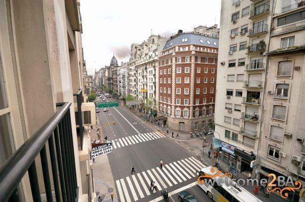 vista desde el balcón hacia el oeste - Departamento luminoso y bien ubicado en el centro de buenos aires - Buenos Aires - rentals