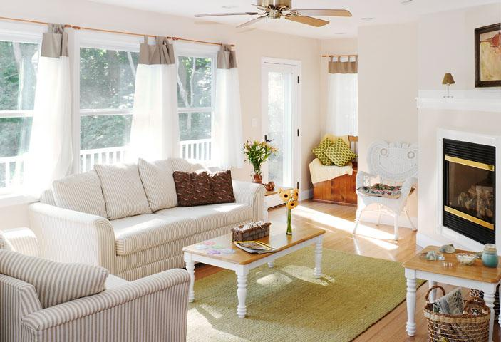Living room area first floor - Family Beach Home, Annisquam's Diamond Cove - North Shore Massachusetts - Cape Ann - rentals