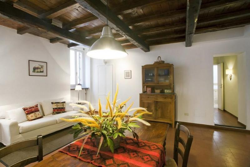 Living room - Spacious, charming apartment in Trastevere - Rome - rentals