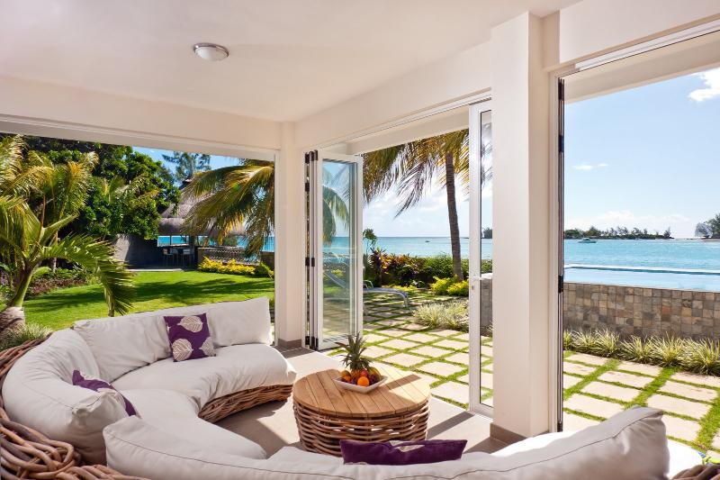 Patio & Gazebo (in distance) - Island's Edge Villa Infinity - Private Pool & Chef - Port Louis - rentals