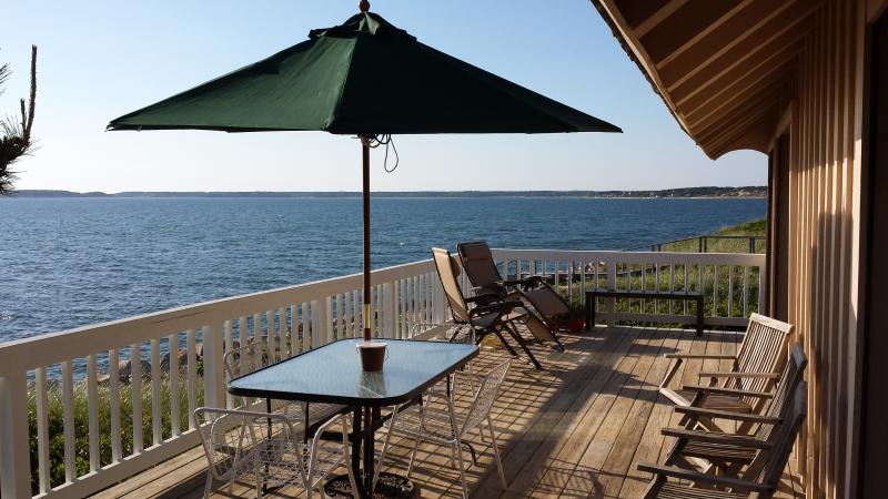 Northwest view from the Deck - Spectacular Private Waterfront and Beachfront Home - Wellfleet - rentals
