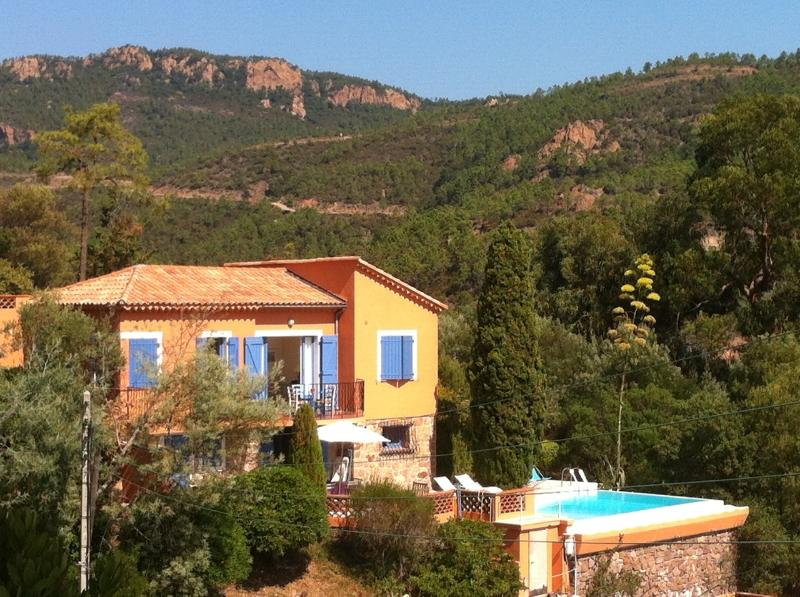 Villa Pierrot Villa with pool and view Theoule-sur-mer, villa French Riviera, private holiday villa walk to beach - Image 1 - France - rentals