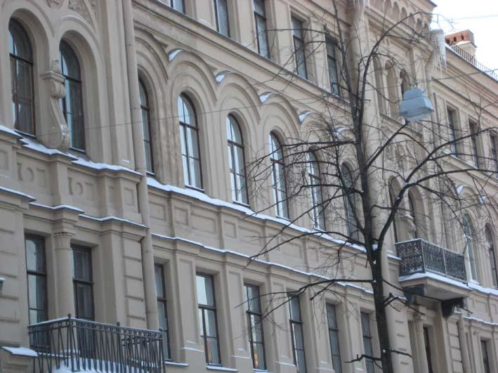 The 10 arched windows at the front of our apartment - Academy Garden - Saint Petersburg - rentals