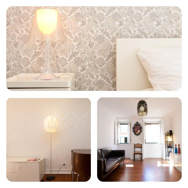 Living room and bedroom overview - Great location/price  & free portable internet - Lisbon - rentals