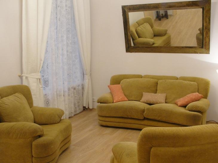 Living room - Symphony  2 bed rooms  Apartment on Nevskiy pr. - Saint Petersburg - rentals
