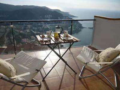 view from terrace - Designer apartment with pool stunning sea views near Roses - Roses - rentals