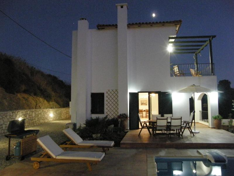 Villa Anemos at Night - Anemos Villa-enjoy a relaxing and rural experience - Rethymnon - rentals