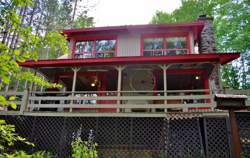 Chalet with Covered portion of Deck - Gorgeous 2 Bedroom Cottage Facing Lake Massawippi! - Ayer's Cliff - rentals