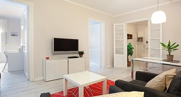 Living Room - Sants group apartment - Barcelona - rentals