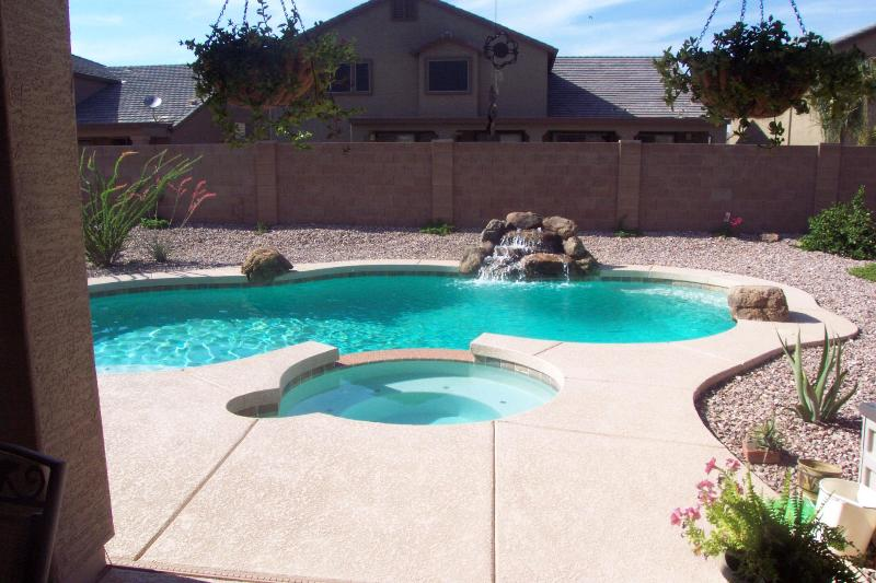 Pool, Spa and Waterfall - Fully Furnished Executive Home with Pool and spa - Surprise - rentals