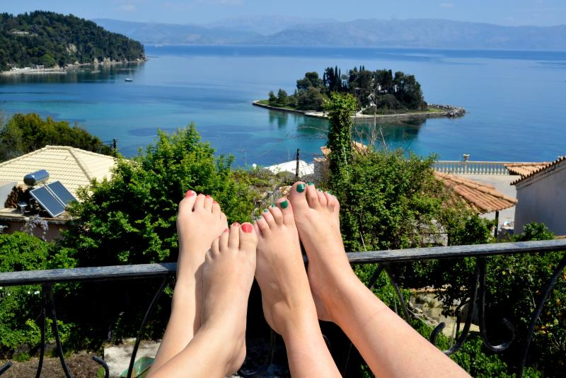 the view at your feet.... - Breathtaking View House In Corfu -Corfu Story ! - Dassia - rentals