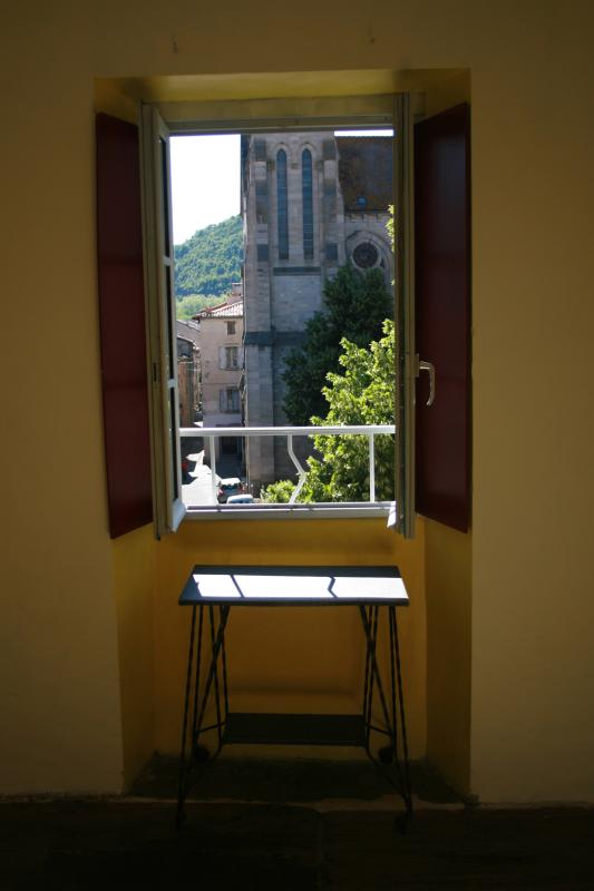 Street view from your bedroom - FRUKT Galerie d'art et Salon. - Saint-Antonin Noble Val - rentals