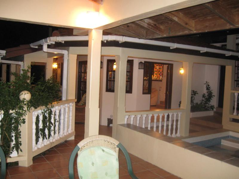 Our home from the terrace at night - Sunset Haven, Cap Estate, St Lucia - Cap Estate, Gros Islet - rentals