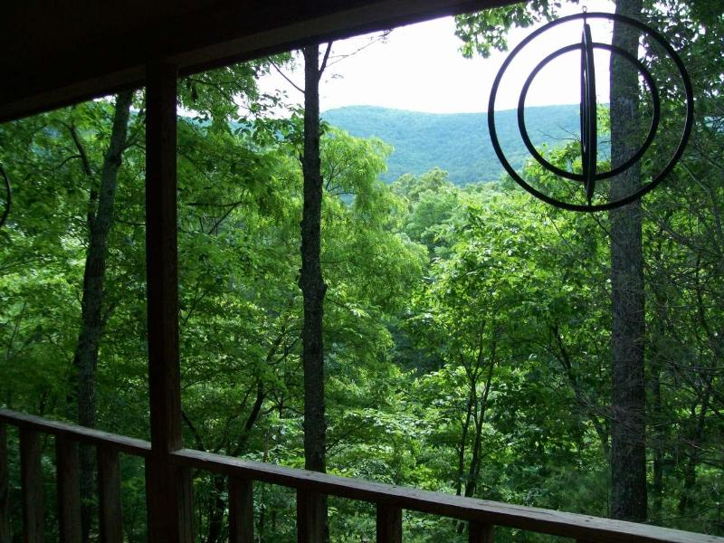 View from covered porch - 4th night FREE!Helton Falls Lodge-Deer Ridge cabin - Blairsville - rentals