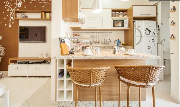 SALA DE JANTAR COM COZINHA - Apartamento Confortavel - Florianopolis - rentals