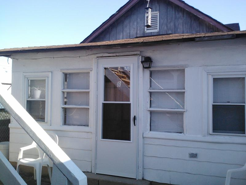 Outside patio in front with seating for 8 and gas grill - Private Cottage/100 Ft from Boardwalk/Beach - Seaside Heights - rentals